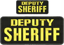 Deputy Sheriff embroidery patch 4x10 and 2x5 hook on back gold