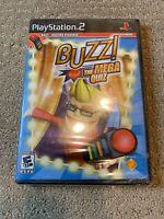 Buzz The Mega Quiz Sony PlayStation 2 Factory Sealed Minor Tears