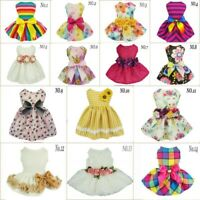 Fitwarm Party Princess Dog Dress Wedding Pet Clothes Lace Tutu Dress Bow Apparel