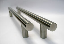 """1 Pair Brushed SS Appliance  Bar Pulls 1"""" Dia x 18"""" (13-3/4"""" centers) (iii1)"""