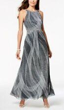 SL Fashions Women's Pleated Metallic Gown Women's Dress Size 12UK RRP £100