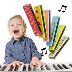 Cartoon Bunt Holz Mundharmonika Musical Instrumente Mundharmonika Für Kinder