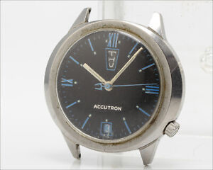 Vintage Accutron Day Date M9 cal. 2182 Tuning Fork Watch / Blue / Up - Down
