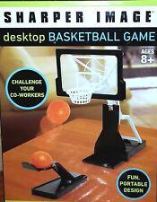 """Sharper Image Desktop Basketball Game, 7"""" x 2"""" - for ages 8+"""