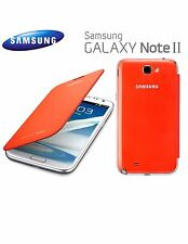 Genuine Samsung Galaxy Note 2 Flip Cover Case (Orange)