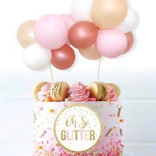 Balloon cake topper garland mini Rose gold Wedding birthday decoration