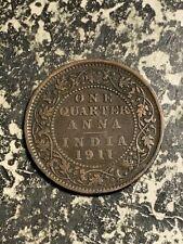 1911 India 1/4 Anna Lot#Q1297