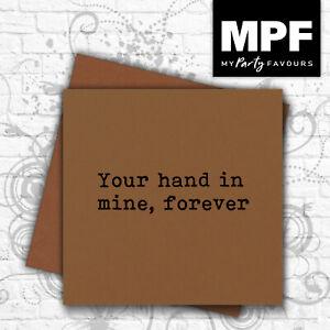 'Your Hand' card - romantic valentine love husband/wife/boyfriend/girlfriend