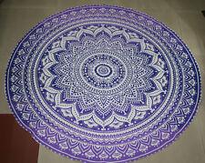 Indian Ombre Roundie Round Mandala Tapestry Beach Throw Towel Yoga Mat Bohemian2