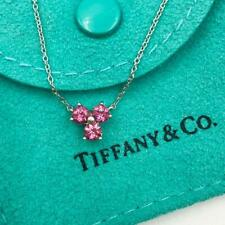 fb0b3576ef9 TIFFANY   CO. 18K WHITE GOLD   PINK TOURMALINE ARIA COLLECTION NECKLACE ...