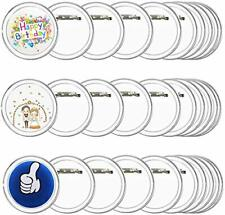 30Pcs Make Your Own Badges Button Badge Clear Button Pin Badges Kit