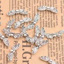 Wholesale 10Pcs Tibetan Silver Spacers Beads Charms Jewelry 22x5MM B121