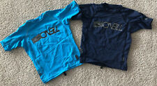 Lot of 2 Oneill Rashguards Sz 6 Boys Kids Swim Shirts Navy Blue Turquoise
