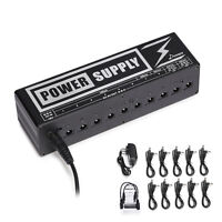 Donner DP-2 Power Supply 2 | Supply Up To 10 Guitar FX Pedals DC 9V, 12V, 18V