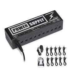 Donner DP-2 Power Supply 2   Supply Up To 10 Guitar FX Pedals DC 9V, 12V, 18V