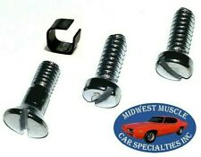 64-72 GM Sunvisor Sunshade Sun Visor Shade Inside Rear View Mirror Screws 4pc QE