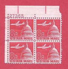 U.S. Scott C64 Mnh Plate Block Of 4 - 1962 Plane And Capital - Free Shipping