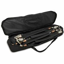 Ice Fishing Rod Bag 4 Rods 7 Reel Combos Terminal Gear Carry Storage Soft Case
