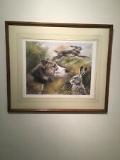 More details for mick cawston, hare & lurcher  limited edition print 233/850