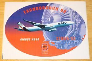 1998 Farnborough Air Show Airbus A340 CFM56-5C Engines Sticker
