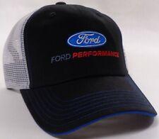 Hat Cap Licensed Ford Performance White Mesh Black Blue Stitching CF