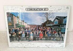 SIGNED A3 Poster Coronation Street 2016 From ITV Studios Soap Opera Memorabilia