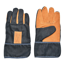Garten Handschuhe Denim Jeans Blau Leder Arbeitshandschuhe Garten Werkstatt TOP
