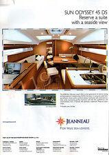 SUN ODYSSEY 45 DS Yacht ADVERT - 2007 Advertisement