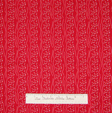 Calico Fabric - Red & White Dot Stripe - Cotton Sewing Quilting 1.12 YARD