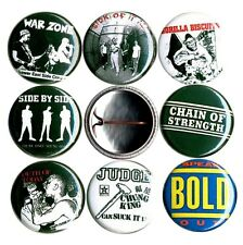 "NYHC 8 1"" button pin badge revelation judge YOT warzone bold side by hardcore NY"