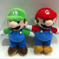 Kids Super Mario Bros Plush Doll Mario Luigi Soft Toy Stuffed Animal Teddy 25cm