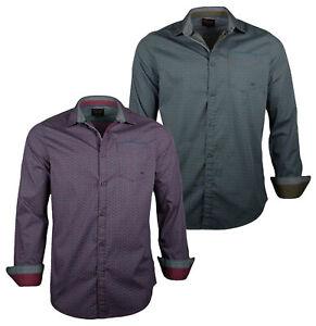PME Legend Herren Hemd PSI186201 langarm Button Down Kragen Freizeithemd