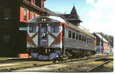 TRAIN RAILWAY POSTCARD U.S. PASSENGER CAR BUILDER BUDD COMPANY RDC1 #9057
