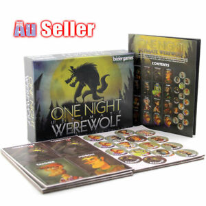 10 Mins Game One Night Bezier Card Board Deluxe Edition Ultimate Werewolf Games