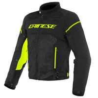 DAINESE AIR FRAME D1 TEX BLACK / YELLOW MOTORCYCLE JACKET - EU 50/52/54/56