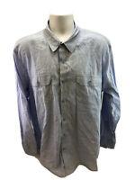 American Rag Cie Men's Blue Button Up Cotton Casual Shirt Sz XL