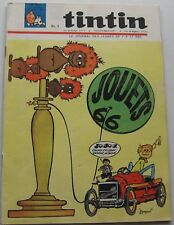 JOURNAL TINTIN NO.891 TOYS 66/L'ILE BLACK/RIC RATTLE/JACOBS 1965 GOOD CONDITION