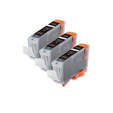 3 NEW BLACK Ink Cartridge + smart chip for Canon CLI-8BK iP4300 IP4500 MP500