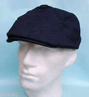 Flat Cap Baker Boy News Boy 8 Panel Navy Linen Summer