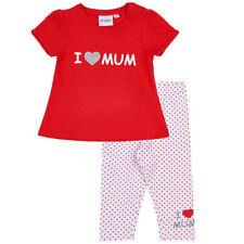 I love Mum - Baby Sommerset - Set - Leggings - T-Shirt - Weiß - Rot - Gr: 62-92
