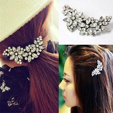 Bridal Wedding Flower Crystal Rhinestone Headband Hair Clip Comb Pin Diamante JP