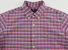 Men's RALPH LAUREN Pink Colors Oxford Plaid Shirt S Small NWT NEW Nice!