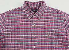 Men's RALPH LAUREN Pink Colors Oxford Plaid Shirt 3XLT 3XT 3LT TALL NWT NEW Nice