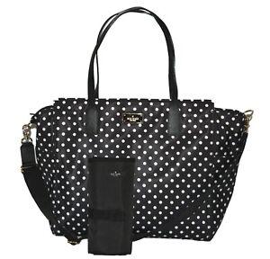 NWT Kate Spade Taden Baby Diaper Bag Blake Avenue Womens Handbag Diamond Dot
