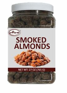 AIVA - Smoked Roasted Almonds Steam Pasteurized Farm Fresh - 27 oz Jar Pack