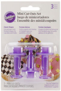 WILTON MINI CUT-OUTS - CLASSIC SHAPES FOR FONDANT CAKE DECORATING