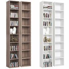 CD DVD Regal Bücherregal 8 Fächer Standregal Holz Wandregal Büroregal