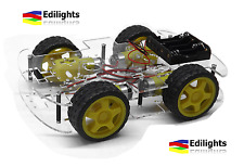 KIT CHASSIS IN ACRILICO AUTO 4 RUOTE MOTRICI ROBOT CAR 4WD ARDUINO RASPBERRY