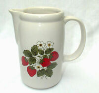 "McCoy Strawberry Country 7"" Water Milk Lemonade Kitchen Pitcher Jug 1429"