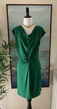 MICHAEL Michael Kors Knot Waist Green Sheath Midi Dress Medium